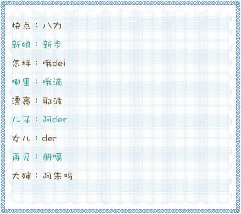 韩语发音表中文谐音图