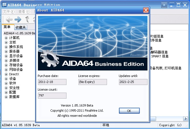 AIDA64 Business Edition 1.85.1639.0(beta) 单文件特别版