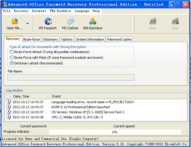 Advanced Office Password Recovery Professional 5.10.368 Portable