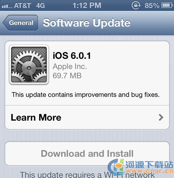 苹果iPhone IOS6.0.1 固件官