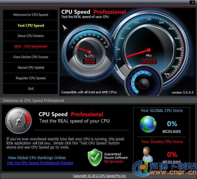 CPU测速专业版(CPU Speed Professional) 3.0.4.5 绿色版