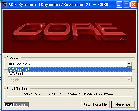 ACD Systems [Keymaker/Revision 2]- CORE 注册机 Acdsee5注册码