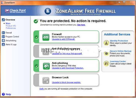 ZoneAlarm Free Antivirus + Firewall 12.0.104.000 英文免费版 杀毒软件
