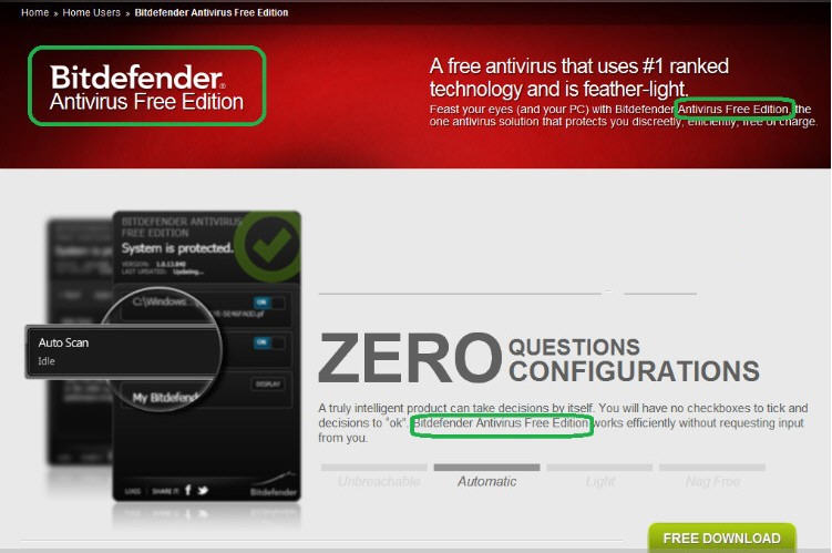 Bitdefender Antivirus Free Edition 1.0.21 官方最新版 国外的免费杀毒软件
