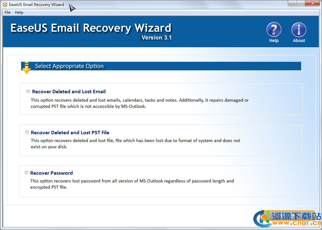Outlook邮件恢复工具(EaseUS Email Recovery Wizard) 3.1 绿色版