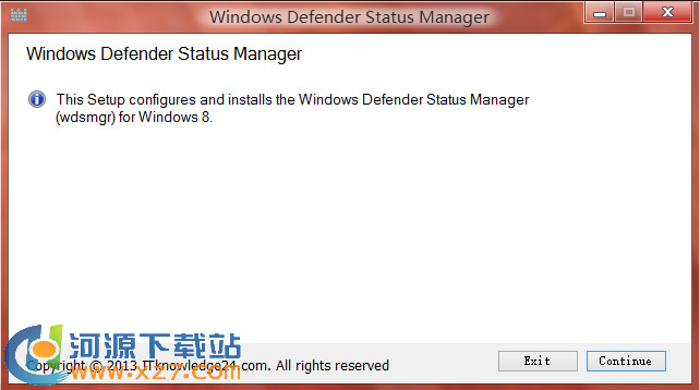Windows Defender Status Manager 1.0 官方版 win8.1自带杀毒软件辅助工具