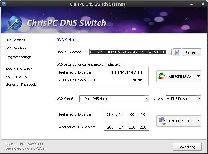 ChrisPC DNS Switch(DNS切换器