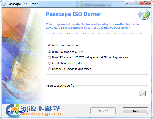 Passcape ISO Burner 刻录ISO光盘工具