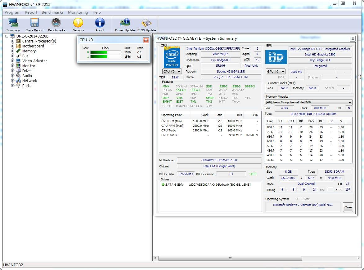 HWiNFO32(硬件检测工具) 4.49 beta 英文绿色版