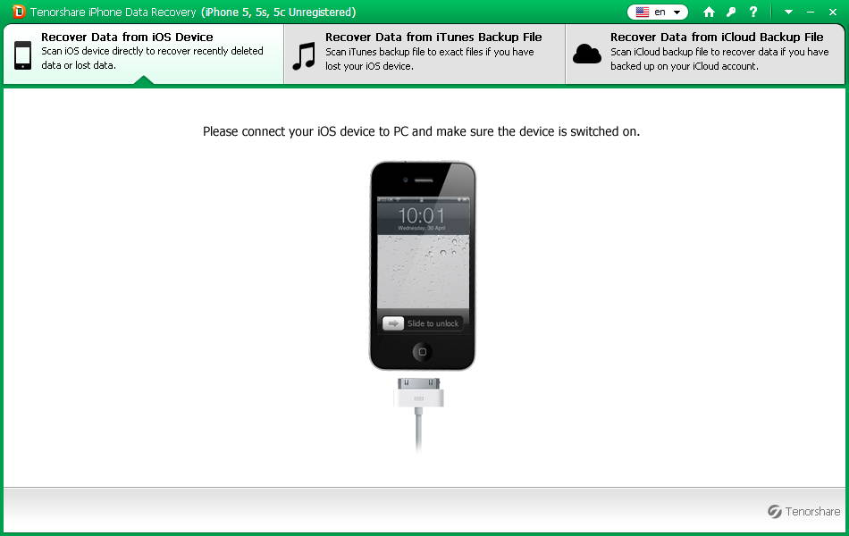 Tenorshare iPhone Data Recovery 5.1 官方特别版 iPhone数据恢复